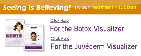 Botox and Juvederm Treatment Visualizers